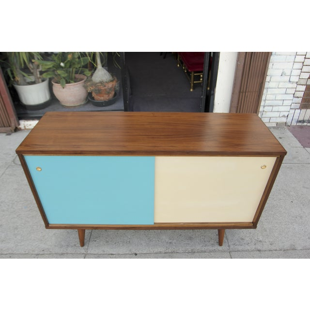 Mid-Century Style Two Door Credenza For Sale - Image 9 of 10