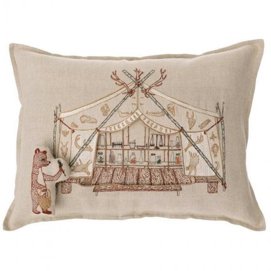 Bear Apothecary Tent Pocket Pillow - Image 2 of 6