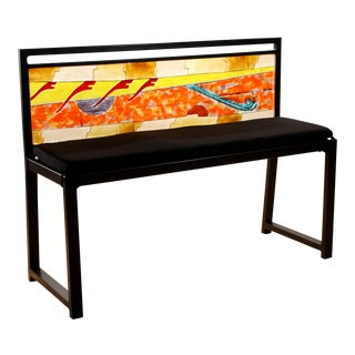 Zelle Glass Floating Notes Bench