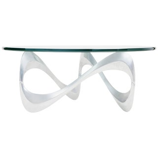 """1960s """"Snake"""" Coffee Table by Knut Hesterberg for Ronald Schmitt For Sale"""