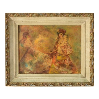 """1950s """"The New Outfit"""" Expressionist Style Figurative Oil Painting from the Palette Fantasy Series by Joseph Porter, Framed For Sale"""