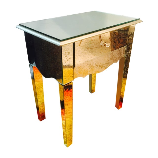 Mirrored side table or night stand chairish for Table 6 handbook 44