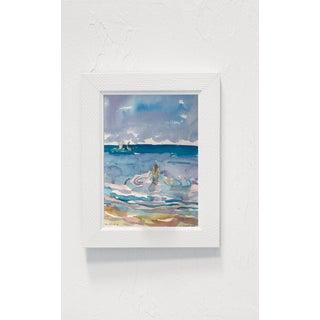 Seascape Landscape Woman Wading (Key West) Original Watercolor Painting by Rebecca Dvorak Preview