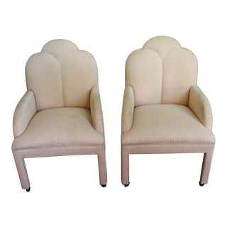 Vintage Art Deco Upholstered Chairs - a Pair For Sale