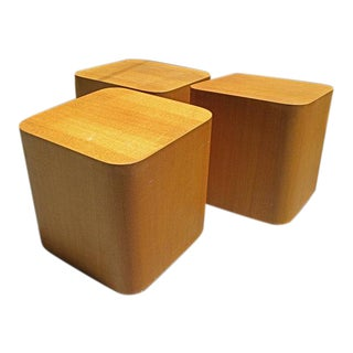1970s Mid Century Modern Paul Mayen Intrex Cube Tables For Sale