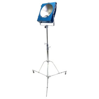 Movie Studio Mini Pan Floor Lamp With Stand. Circa Mid-20th Century Working Original. For Sale