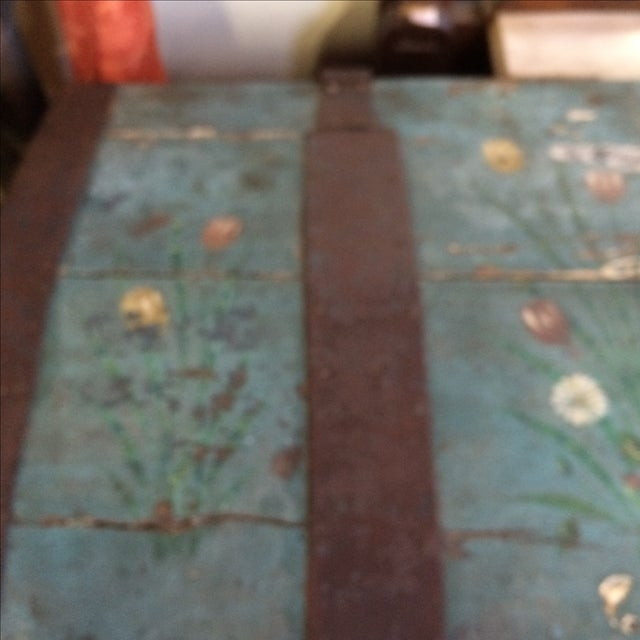 Antique Painted Chest 1822 For Sale - Image 5 of 11