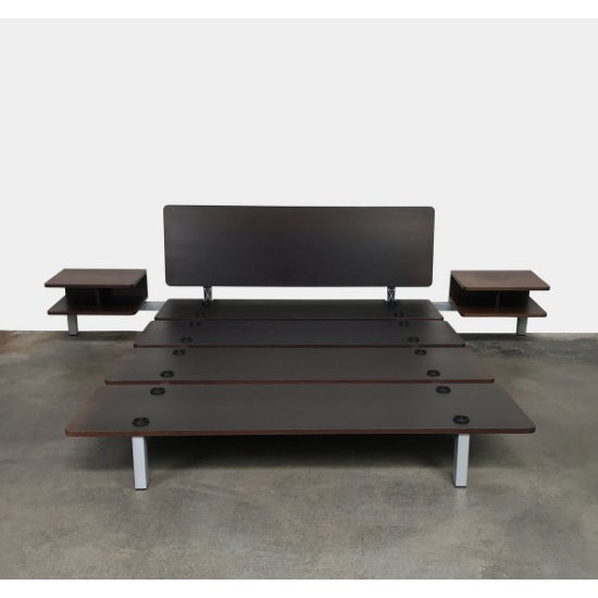 Cassina Minimalistic Cassina Wood Xen Platform Queen Bed With Side Tables For Sale - Image 4 of 4