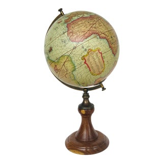 Mercator Vintage Style Globe on Classic Wood Stand For Sale