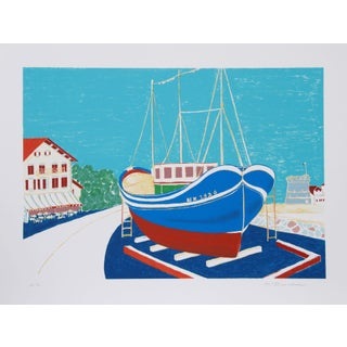 Marion McClanahan - Dry Dock Lithograph