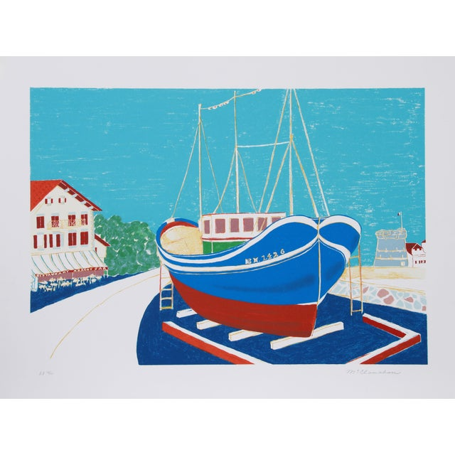 Marion McClanahan - Dry Dock Lithograph For Sale