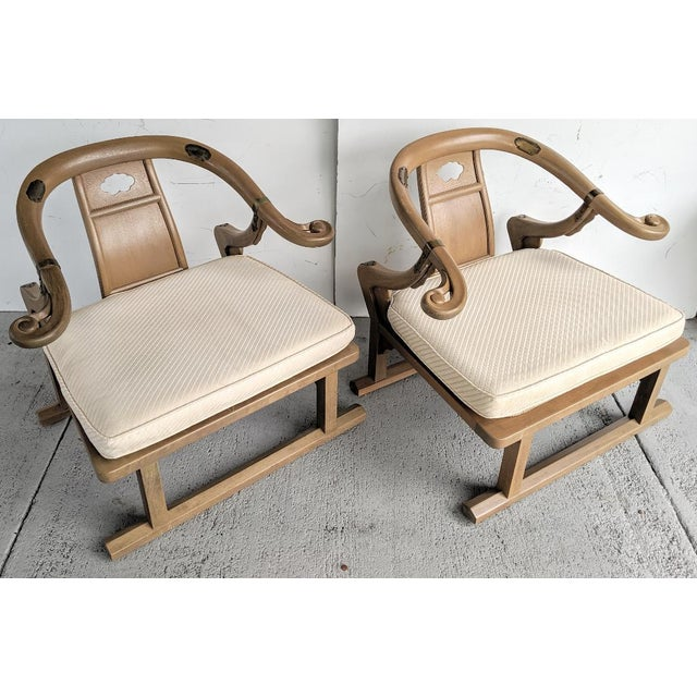 """These are an amazing pair of 1960's """"Oriental Lounge Chairs"""". They are from the """"Far East Collection"""", by Michael Taylor,..."""