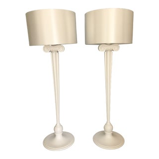 Vintage Anthony Baratta Eden Roc Column Standing Lamps - a Pair For Sale