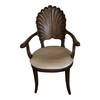 Vintage Venetian Clam Shell Grotto Armchair For Sale