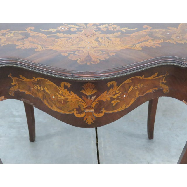 Early 20th Century Victorian Inlaid Center Table For Sale - Image 5 of 13