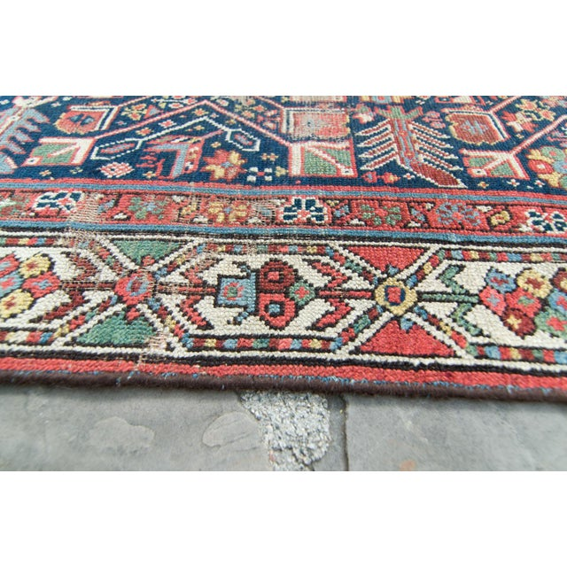 1900 - 1909 House of Séance - 20th Century Antique Caucasian Handwoven Rug - 3′1″ × 10′10″ For Sale - Image 5 of 11