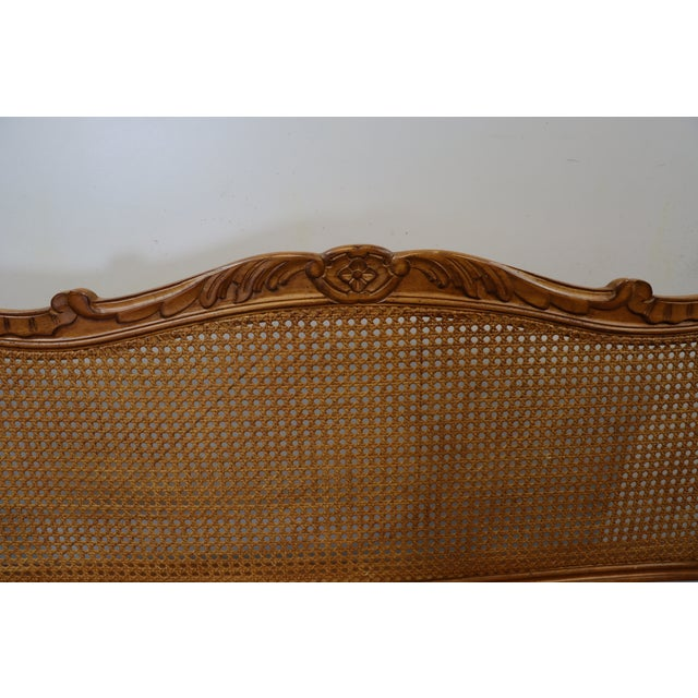 Mid 20th Century Louis XV Style Walnut and Caned Settee For Sale - Image 5 of 8