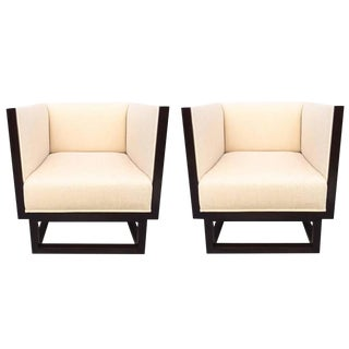 Pair of Cube Lounge Chairs by Josef Hoffmann For Sale
