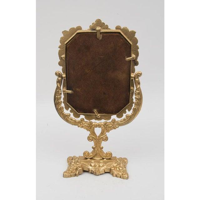 Antique Victorian Brass Mirror - Image 3 of 4