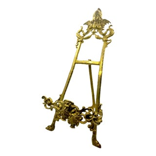 Early 20th Century Antique Gothic Brass Book Stand For Sale
