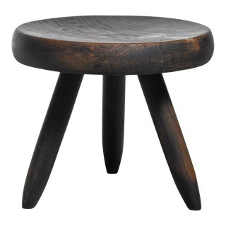 Charlotte Perriand Low Black Stool, France For Sale
