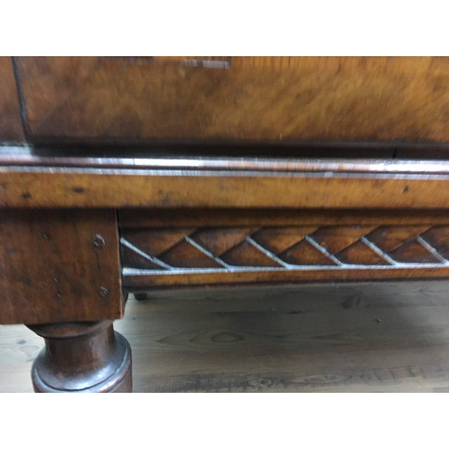 Brown Antique 19th C. English Bookcase With Marquetry For Sale - Image 8 of 12