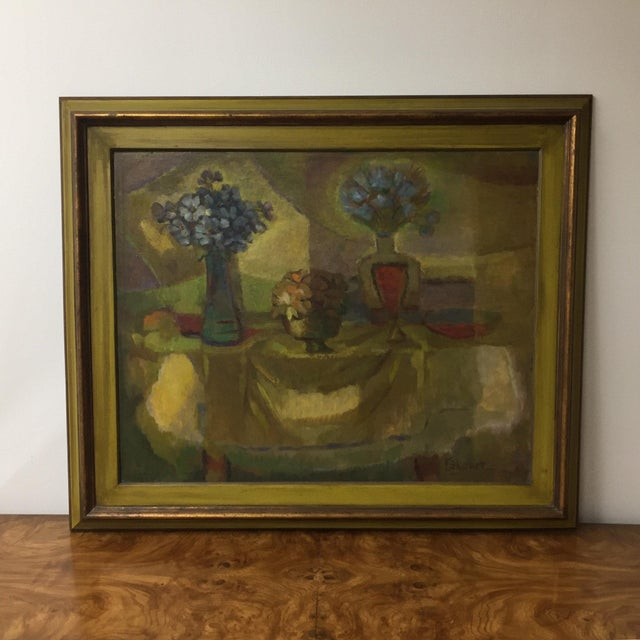 Oil on Masonite Still Life Painting For Sale - Image 4 of 4