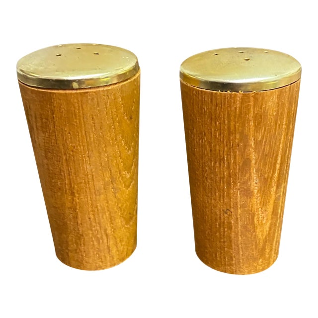 Vintage Danish Modern Salt and Pepper Shakers - a Pair For Sale