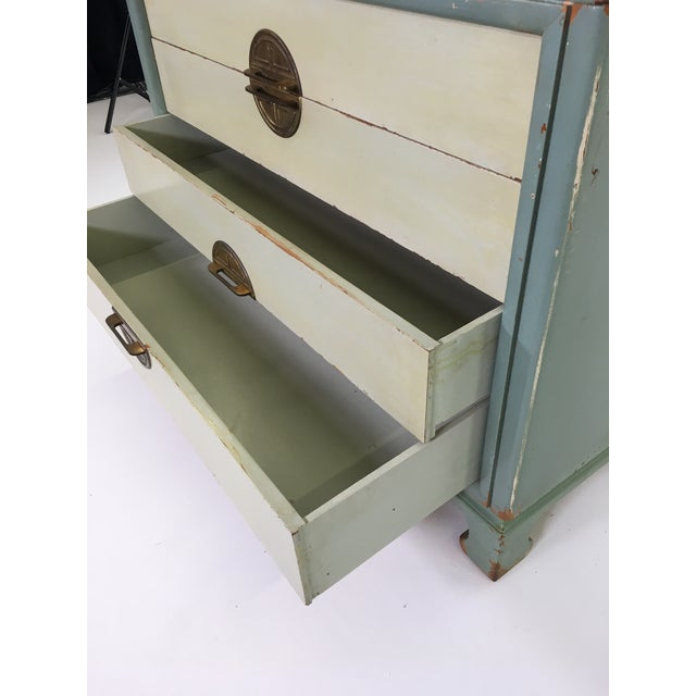 Asian Inspired Mid-Century Modern Solid Wood Bachelor Chest of Drawers For Sale - Image 9 of 13