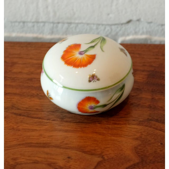 Tiffany and Co. Vintage Tiffany & Co. French Limoges Porcelain Jar W/Top For Sale - Image 4 of 7