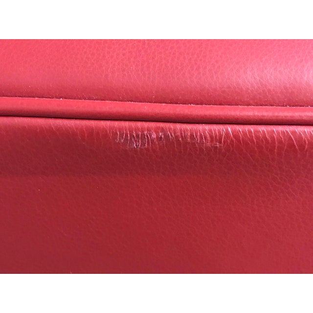 Mid Century Style Red Sled - McCreary Modern for Room & Board Leather Sofa For Sale In Portland, OR - Image 6 of 10