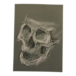 Skull Drawing by James Bone 1970s For Sale