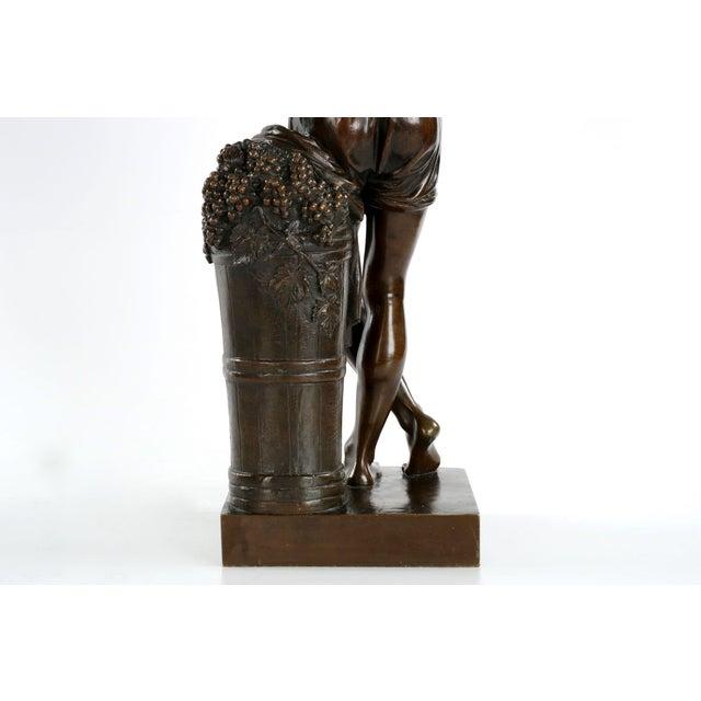 "François-Joseph Duret ""Improvisateur"" Bronze Sculpture - Image 6 of 10"