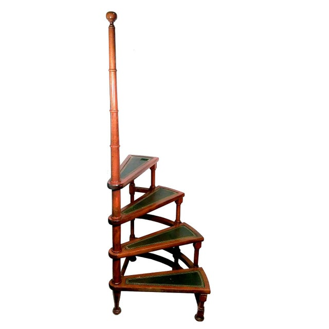 Awesome Vintage Spiral Library Step Ladder Gmtry Best Dining Table And Chair Ideas Images Gmtryco