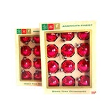 Image of 1960s Shiny Pink Glass Christmas Ornaments - Set of 24 For Sale