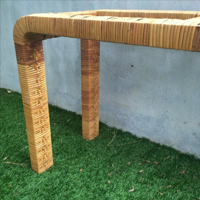 Rattan Console Table - Image 4 of 9