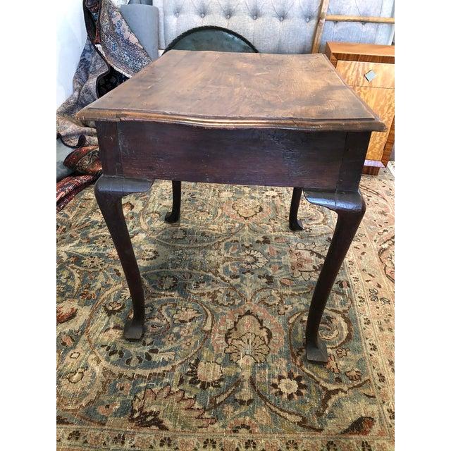 Antique English Farmhouse Mahogany Writing Table For Sale - Image 4 of 13
