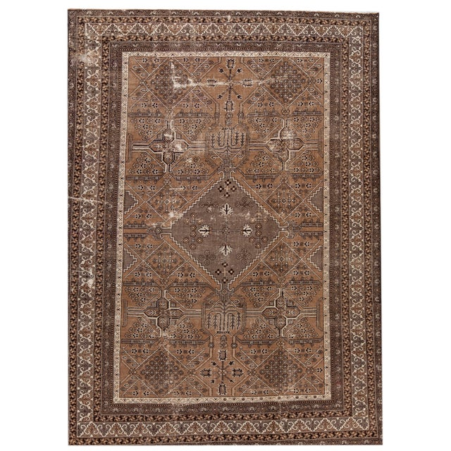 "Antique Mahal Rug, 9'6"" X 13'4"" For Sale - Image 10 of 10"