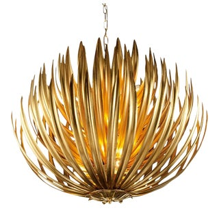 Florentine Antique Gold Leaf Artichoke Light For Sale