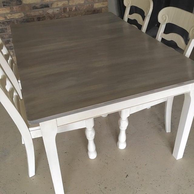 Rustic Pine Wood Dining Set - Image 6 of 10