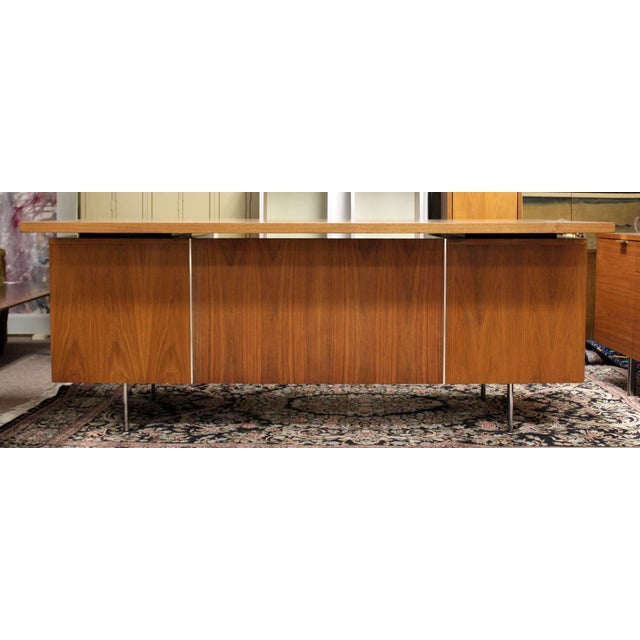 For your consideration are a wonderful credenza and executive desk, both made of walnut, by George Nelson for Herman...