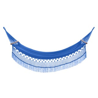 Delmi Hammock in Phthalo Blue With Walnut Rods For Sale