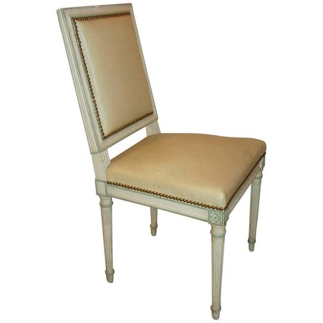 Wood Maison Jansen Paint Decorated Side Chair For Sale - Image 7 of 7