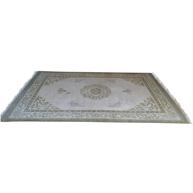 """Vintage Asian Area Rug - 5'11"""" X 9'4"""" - Image 1 of 5"""