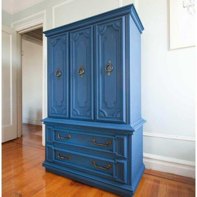 Vintage Blue Lucille Armoire - Image 3 of 7