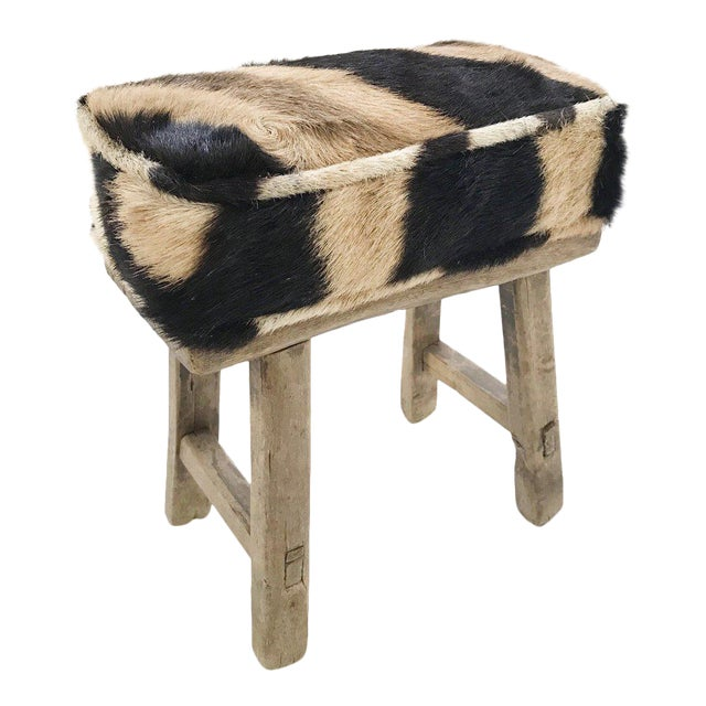 Forsyth Mini Bench with Zebra Hide Cushion - Image 1 of 4