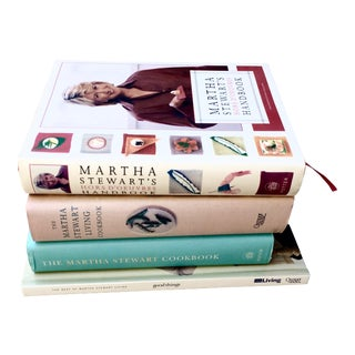 Martha Stewart Cooking & Entertaining Book Bundle - Set of 4