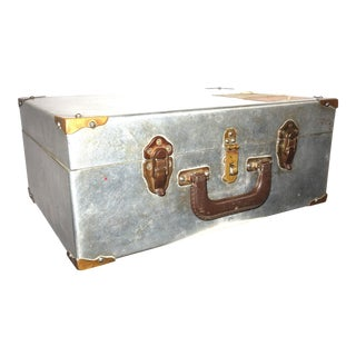 Cinema Equipment Hasped Carry / Suit Case. Vintage. Circa 1940s. Polished Aluminum With Much Patina. Shop Made Appearance.