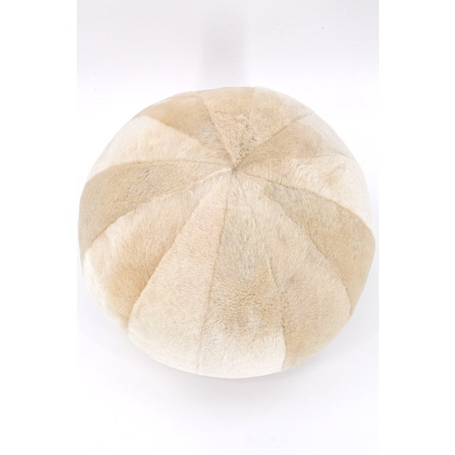 """This merino sheepskin pillow is a perfect sphere shape. Dimension is 15"""" diameter. Works great as pillow or even small..."""