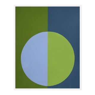"Medium ""Blue and Green Forever"" Print by Stephanie Henderson, 32"" X 40"""